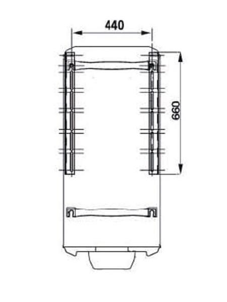 ATLANTIC CHAUFFAGE Console fixation pour chauffe-eau électrique dimensions