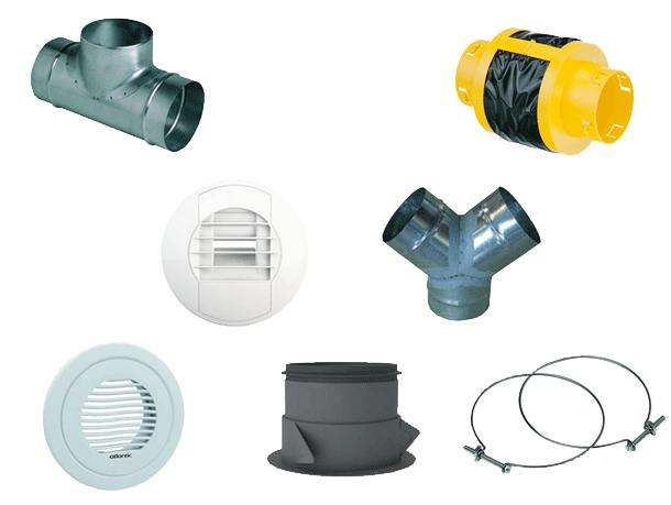 Kit bouches et accessoires réseau linéaire pour Duocosy HR 412195
