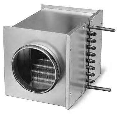 Batterie eau chaude pour conduit circulaire