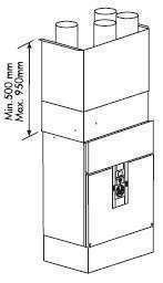 Cache-gaine pour VMC IDEO 325 Filaire et INITIA