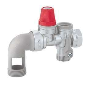 Groupe de sécurité 3/4 NF avec coude pour chauffe-eau horizontal