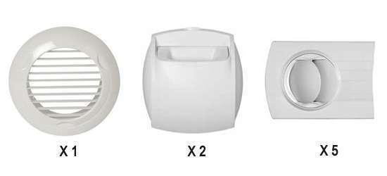 Kit Auto T3/T4 Extract. ⌀125 / Insuffl. ⌀80 pour Minigaine