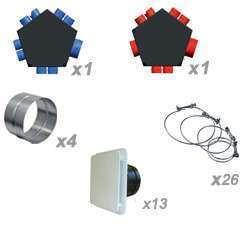 Kit accessoires réseau VMC DF 8 piquages