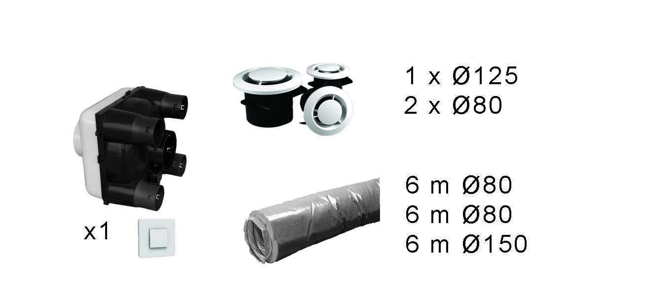 Kit répartiteur VMC pour NATHEO 250