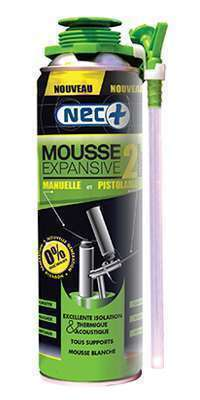 Mousse expansive 2 en 1 sans isocyanates 500ml
