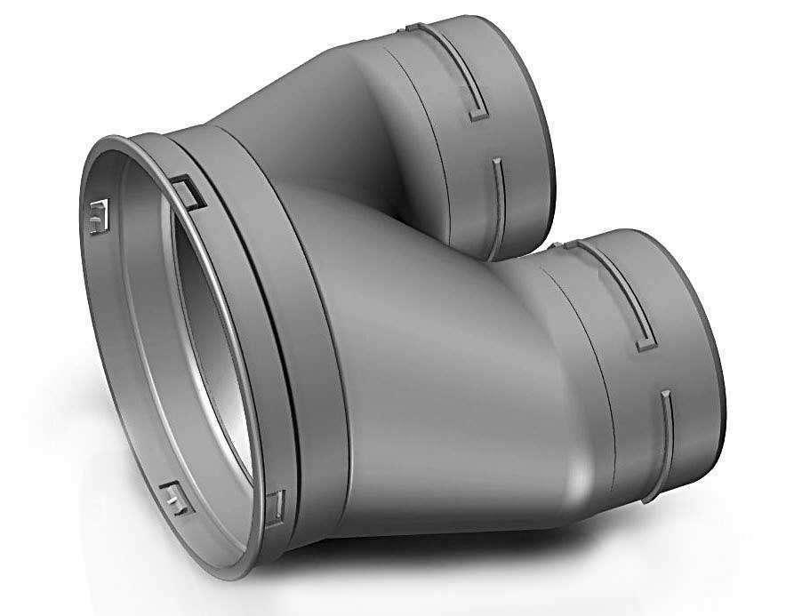 Optiflex / Flexigaine ALDES Culotte D125 2 X D90 11091990
