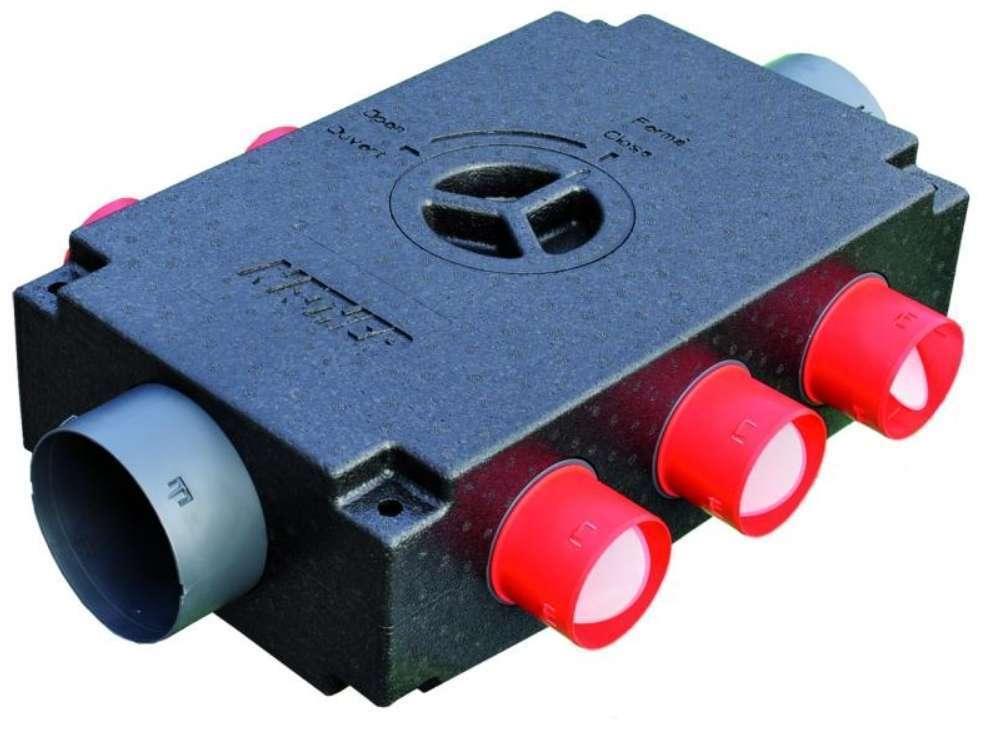 Répartiteur isolé d'extraction 5 piquages régulés D80