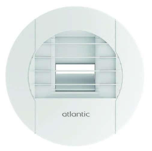 Bouche hygroréglable SDB/WC commun manuelle à tirette D80 Atlantic