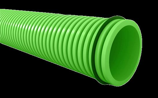 Conduit semi-flexible annelé rond et accessoires