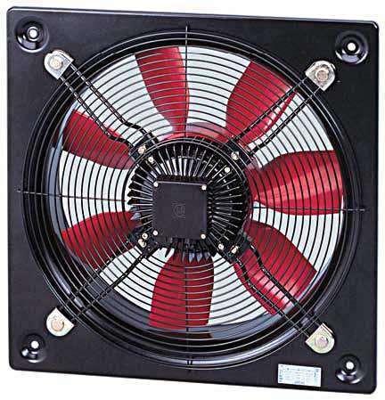 HCFT/6-630/H 230/400V Unelvent Ventilateur Hélicoïde Industriel Mural 12656