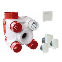 Kit DECO DHU K avec bouches et interrupteur 2 positions pour grande vitesse cuisine