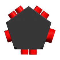Plenum extraction universel isolé 1xD125 + 6xD80 unelvent