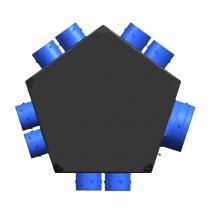 Plenum insufflation universel isolé 8xD80 + 1xD125 unelvent 890031