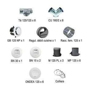 Kit bouches et accessoires réseau linéaire pour Optimocosy