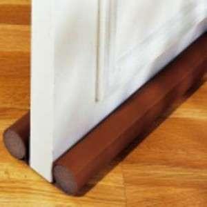 Bas de porte double boudin 0.94m marron