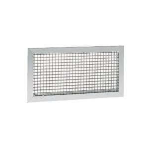 Grille de reprise. Montage mural ou plafond. Couleur Aluminium anodisé GRK 400X200 Atlantic 528301