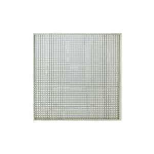 Grille de reprise avec filtre intégré et plénum à piquage axial Ø 200. Montage plafond modulaire. Couleur blanche GRMC-FP/F D 200 Atlantic 529336