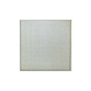 Grille de reprise avec filtre intégré et plénum à piquage axial Ø 250. Montage plafond modulaire. Couleur blanche GRMC-FP/F D 250 Atlantic 529337