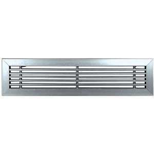 GLF 500X100 BLANCHE UNELVENT GRILLE DOUBLE DEFLECTION 850359