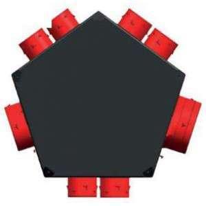 Plenum extraction universel isolé 1xD125 + 6xD80