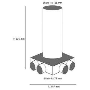 Plenum intermédiaire 4x75/125