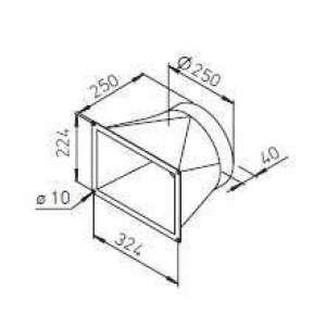 Transformation carré/rond pour KWL EC 700