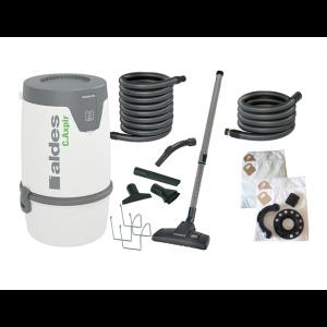 Pack Aspiration centralisée C.Cleaner Aldes + 1 Sac 30 litres Aspiration centralisée + filtres + 1 Support tuyau flexible Aspiration centralisée + 2