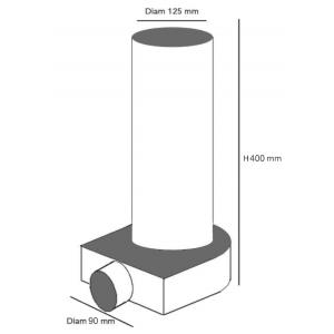 manchette coudee 1 90 125 mm vmc