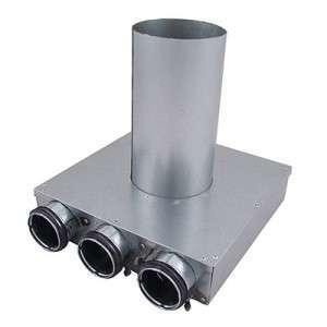 Plénum métalliques à manchon long Indomo Ø90 pour bouche PLVCU NATHER