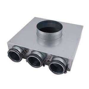 Plénum métalliques Indomo Ø90 pour bouche PVCU NATHER