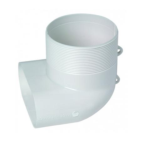 Minigaine 40x100 ALDES Coude vertical 90° pour bouche ⌀80mm