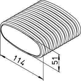 20ml Conduit semi-flexible plat 114x51