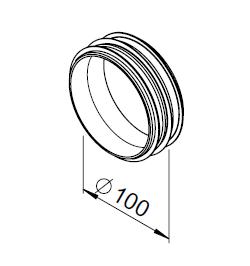 Raccord court DN100 3030 helios