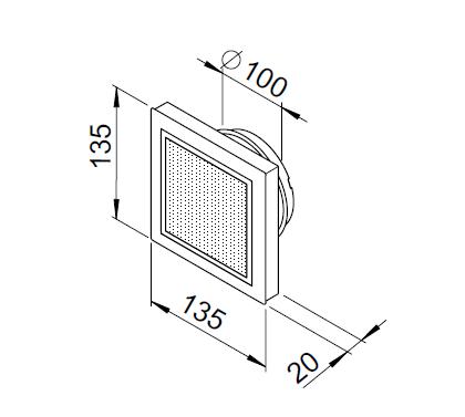 Bouche insufflation design ⌀100 + filtre 3040 helios