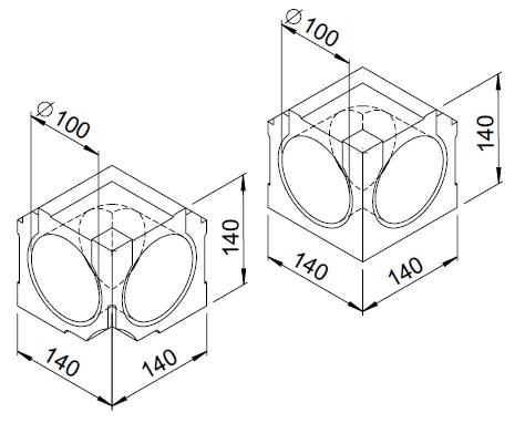 2 Coudes intérieurs 90° DN100 moulurés 3077 helios