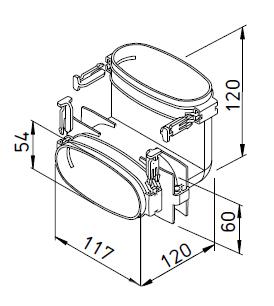 FlexPipe® FRS-BV 51 HELIOS VENTILATEURS Coude vertical pour conduit 114x51