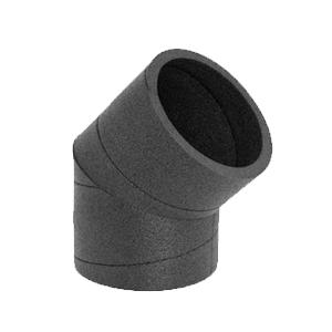 C 45 PE CR ATLANTIC Coude 45° PE ⌀125 isolé 25mm 423012