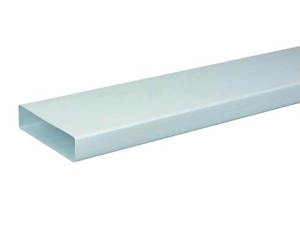 Tube rectangulaire 3 m Atlantic (mâle) pour Conduit rigide plastique rectangulaire  TR 55x220 P Atlantic