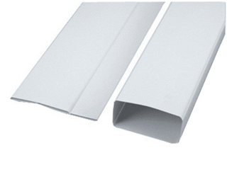 TR PLAT 55 ATLANTIC 1,5m Tube rigide rectangulaire plat 55x110 plastique 460021