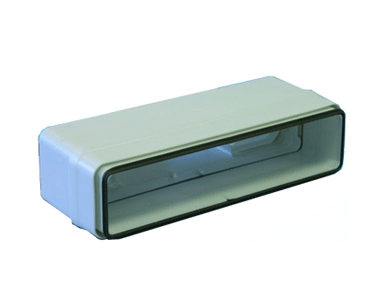 Raccord droit rectangulaire 55x110 plastique à joint 460050