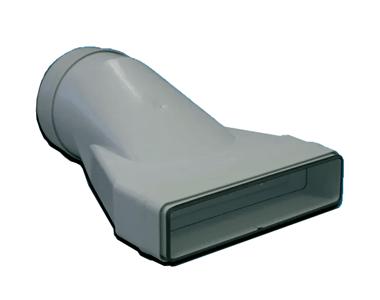 Raccord mixte droit 55x220x125 plastique à joint 460053