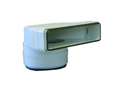 Coude mixte vertical 55x220x125 plastique à joints 460055