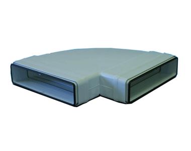 Coude 90° horizontal rectangulaire 55x110 plastique à joint 460058