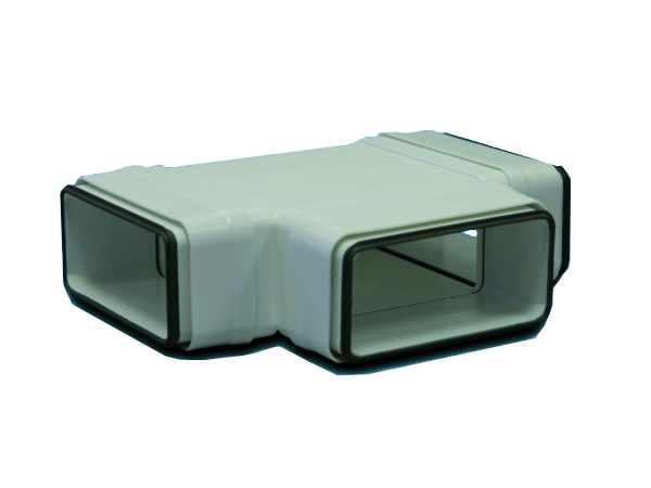 Té 90° horizontal rectangulaire 55x220 plastique à joints 460067