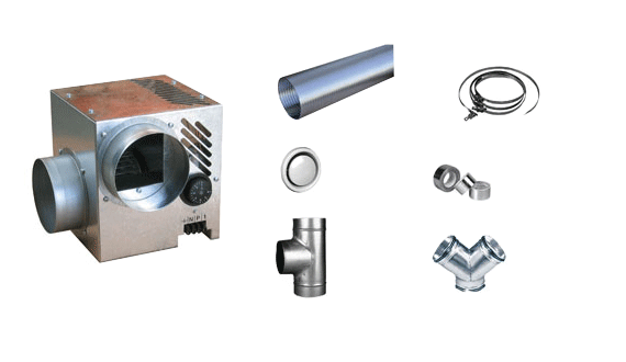 DIFUZAIR Nather Kit distribution air chaud 3 bouches D 520 551893