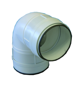 CDCV 100 Coude 90° circulaire à joints