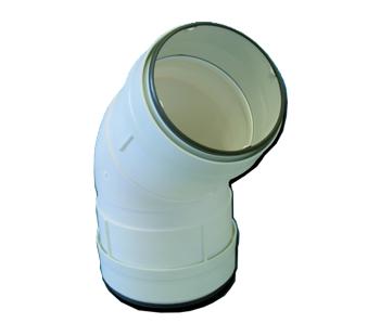 CDCV 45/100 unelvent Coude 45° circulaire à joints 831018