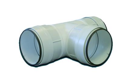 THCV 100 unelvent Té 90 circulaire à joints 831019