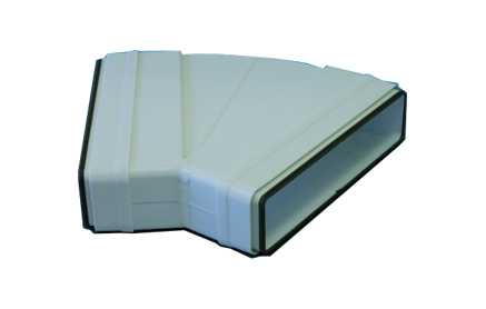 Coude 45° horizontal à joints 831027 unelvent