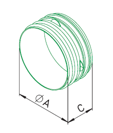 Raccord M pour ⌀180 9454 helios